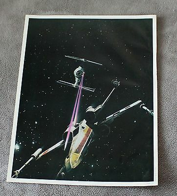Star Wars Episode IV New Hope 1977 Space X-Wing TIE Fighter Battle Poster GVG