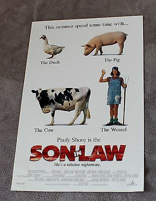 Son in Law 1993 Pauly Shore Carla Gugino Lane Smith Video Poster EX C8