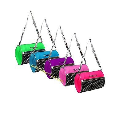 Girls Dance Duffle Bag Silver Sequin Select Color