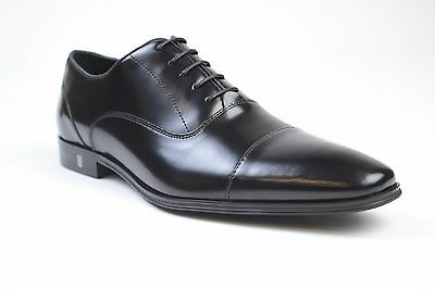 Versace Collection Black Leather lace up dress Shoes Sz 7 8 9 10 11 NEW