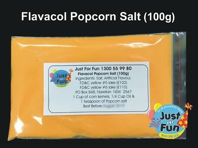 100g Butter Popcorn Salt. Cinema Quality Popcorn Salt for Popcorn Machine