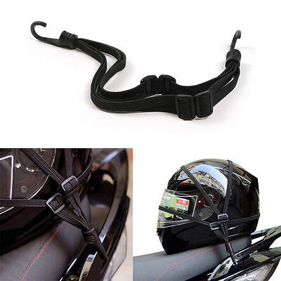 Motorcycle Bicycle Black Bungee Cord Tailstock Ropes Mesh Luggage Helmet Holder