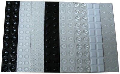 242 Assorted Tactile Bump Dots for the Blind - Different Shapes and Colors