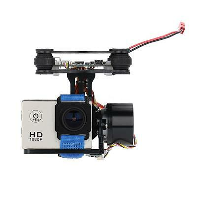 CNC FPV BGC 2 Axis Brushless Gimbal w/Controller pour GoPro 3 Quadcopter B4N2