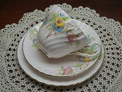 Very Pretty Hand Painted Vintage E B Foley Pink Floral Trio