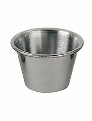 Individual Condiment Sauce Cups- One Dozen - 2½ Oz. Ounce Stainless Steel