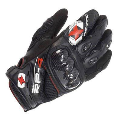 Oxford RP-4 RP4 Tech Black Short Summer Mens Motorbike Motorcycle Gloves