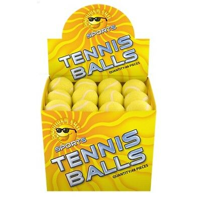 Sports Tennis Balls Yellow Loose 6cm Assorted Quantities (1, 4, 12, 30 or 48)