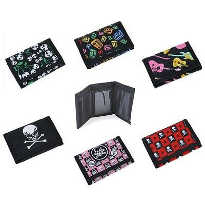 Assorted Boys Girls Tri Fold Wallet With Velcro & Zipped Coin Pockets 1 Supplied