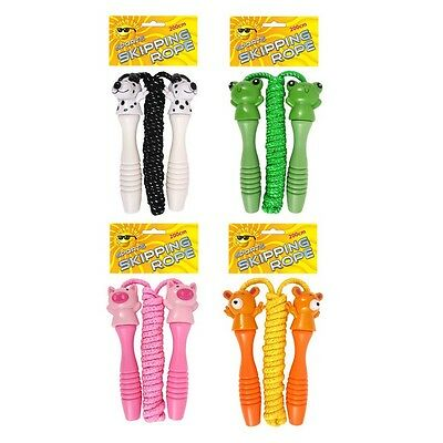Assorted Coloured Sports Skipping Ropes 200cm Pig Frog Bear or Dog (1, 4 or 12)