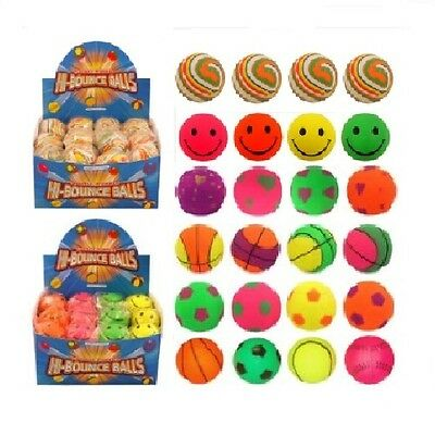 Various High Hi Bounce Sponge Rubber Bouncy Balls Dogs Assorted (1, 4 or 24)