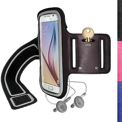 Jogging Sports Armband for Samsung Galaxy S6 SM-G920 & S7 SM-G930 Fitness Case