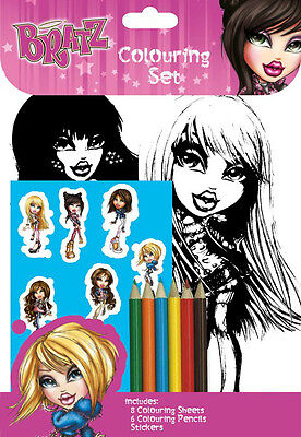 Bratz Colouring Set / Birthday Party Loot Stickers