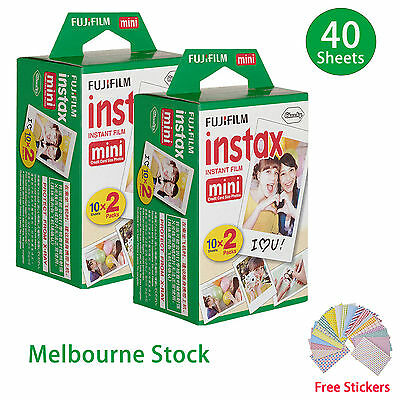 40 Sheet Fujifilm Instax Mini Film Fuji instant photos 7s 8 25 90 Polaroid 300