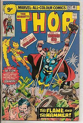 Marvel Comics Thor #247 May 1976 Firelord F+