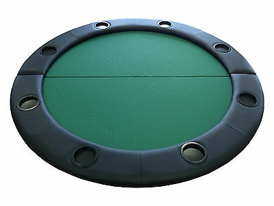 Folding Round Poker Table Top Cards Games Speed Cloth Surface Leather Rest 4ft