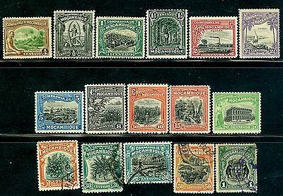 1918 Corn,Tusk ivory,Sugar,Train,Cotton,Cocos,Cows,Sisal,Mozambique,114,MLH,VFU