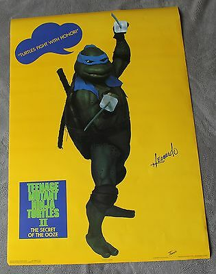 Teenage Mutant Ninja Turtles II Secret of Ooze 1991 LEONARDO Photo Poster EX C8