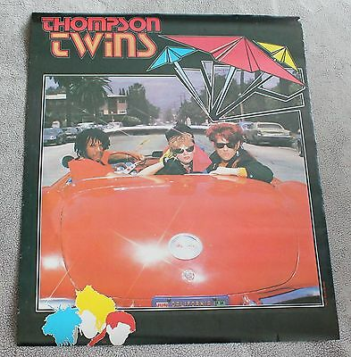 Thompson Twins 1984 Tom Bailey Alannah Currie Red Car California PROMO Poster VG