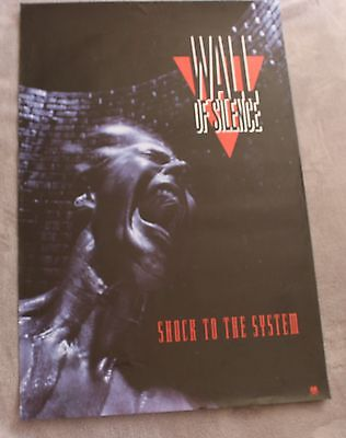 Wall of Silence Shock to the System 1992 A&M Records PROMO RARE Poster VGEX C7
