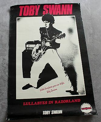 Toby Swann 1981 Lullabyes Razorland El Mocambo Record PROMO RARE B&W Poster GVG