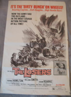 THE LOSERS aka Nam's Angels 1970 William Smith Biker War One Sheet Poster GVG