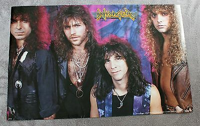 Winger 1991 I'm Terse Tours Kip Hair Glam Heavy Metal Poster #P7138 VGEX C7