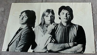 WINGS Greatest 1978 Paul McCartney Parrots Piano Capitol 2 Sided Record Poster G