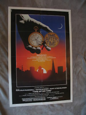 Time After Time 1979 Malcolm Mcdowell JACK RIPPER H.G Wells One Sheet Poster VG