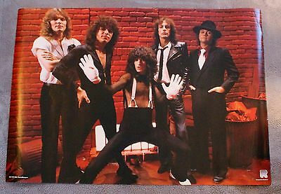 Reo Speedwagon 1980s Neal Doughty Kevin Cronin Bruce Hall Holland Poster VGEX C7