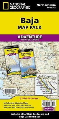 National Geographic North & South Baja, California - New Paperback Book