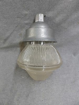 Vintage Industrial Eames Era Holophane Light Fixture Factory Steampunk 802-16
