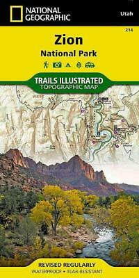National Geographic Trails Illustrated Map Zion National - New Paperback Book