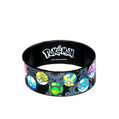 Pokemon Pokeball Lineup Youth Silicone Bracelet