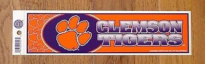Ncaa Licensed Clemson Tigers Bumper Sticker Decal Unsold Retail Stock