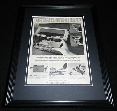 1951 GE General Electric Toaster Oven 11x14 Framed ORIGINAL Advertisement