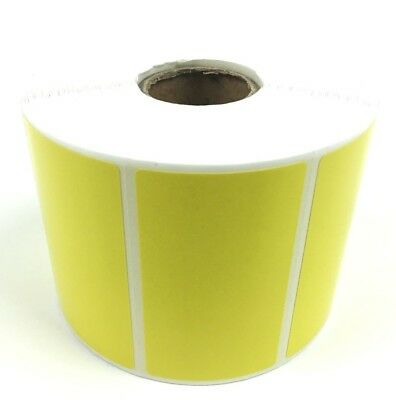 "NEW 1 roll of 1000 Thermal Labels Yellow 2.25 x 1.25  ZEBRA 1"" Core Direct FBA"