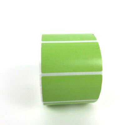 "NEW 1 roll 1000 Thermal Labels GREEN 2.25 x 1.25  ZEBRA 1"" Core Direct FBA"