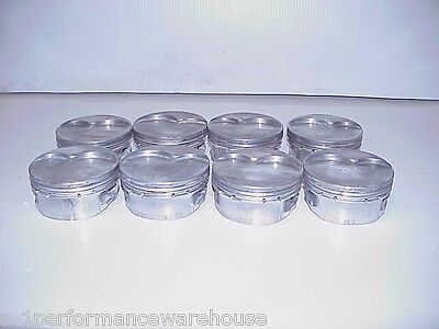 "8 RaceTec SB Chevy 11° Flatop Pistons 4.140""-1.00"" for 4"" Stroke & 6"" Rods R15"