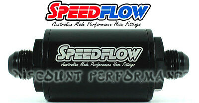 Speedflow -8AN Short Series 10 Micron Inline Billet Fuel Filter 601-010-08-BLK