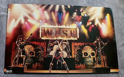 W.A.S.P. 1985 Blackie Lawless Doug Blair Live Concert Funky Poster #3013 GVG C5