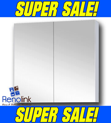 750Mm X 720Mm Bathroom Vanity Mirror Cabinet White Gloss Pencil Edge Pemc-750