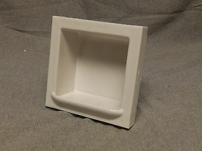 Vtg Ceramic White Porcelain Recessed Tile In Soap Dish Bathroom Fixture 818-16