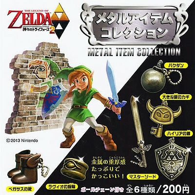 New  Legend of Zelda Link Game 6 pc Metal Item Collection Set Kyodo