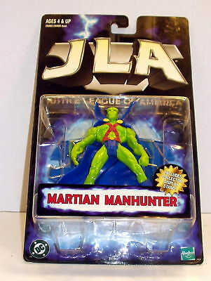 Justice League of America Martian Manhunter '98 MOC Free Ship w/ Pro Packing