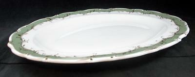 "Royal Doulton FONTAINEBLEAU GREEN 13"" Platter H4978 GREAT CONDITION"