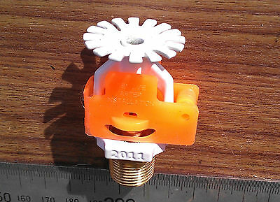 Tyco Brass Automatic Fire Sprinkler Head, white, SSP Pendant Spray. BSP 3/8""