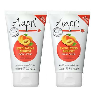 ** 2 X AAPRI EXFOLIATING FACIAL SCRUB CREAM 150ml NEW ** THE ORIGINAL SCRUB FACE
