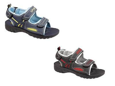 New Boys Childrens Sandals  Holidays Beach Play  Navy Black Casual Troy