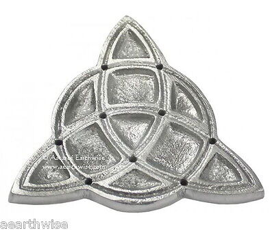 TRIQUETRA INCENSE BURNER TILE100mm - Punk Magick Ritual Wicca Pagan Witch Goth